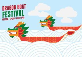 illustrazione di corsa di barca del drago