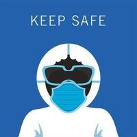 indumenti di tuta di sicurezza biologica