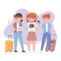 giovani che viaggiano composizione