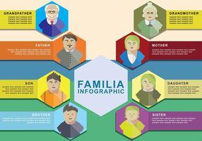 insieme di vettore di familia infografica