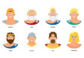 Vettori di busto di dio greco