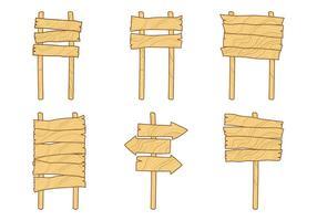 Vettori gratuiti del segno di legno di Madeira
