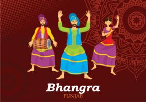 illustrazione di danza popolare di bhangra