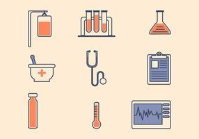Icona medica piatta vettore