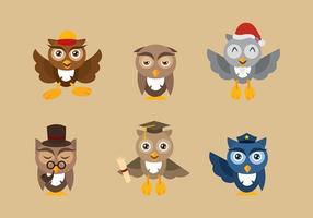 vettore del personaggio dei cartoni animati di coruja