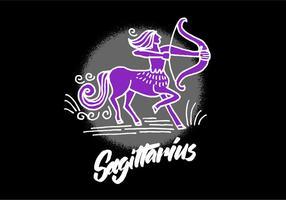Simbolo dello zodiaco Sagittario vettore