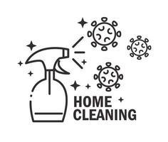 icona del pittogramma di pulizia della casa