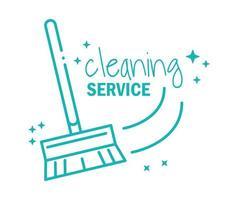 icona del pittogramma di servizio di pulizia