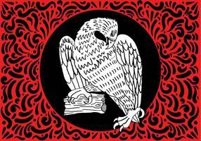 Disegno ornato di falco