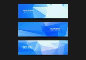 Set di intestazioni poligonali blu vettoriali gratis