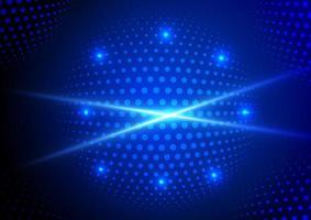 sfondo futuristico astratto delle particelle di dati vettore