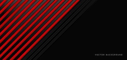 banner astratto con elementi geometrici rossi e neri