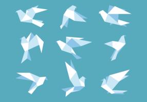 Paloma di carta in stile origami