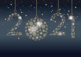 decorazioni festive per celebrare l'anno 2021