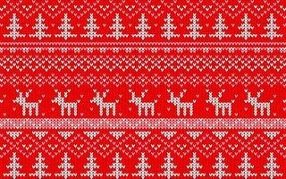 motivo jaquard natalizio rosso e bianco