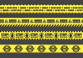 Segnali di avvertimento nastro vettoriale