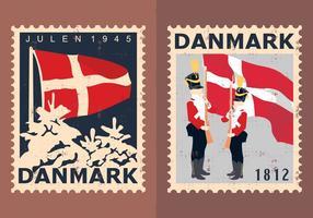 Francobolli di viaggio della Danimarca vettore