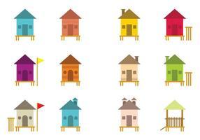 Varie icone della baracca di vettore