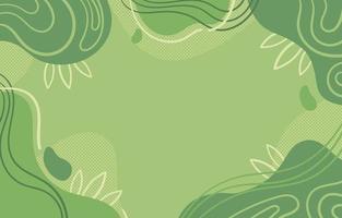 astratto sfondo verde con onde e lasciare accento vettore
