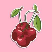 adesivo del fumetto di frutta ciliegia