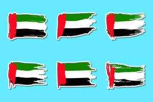 set di adesivi della bandiera della giornata nazionale degli emirati arabi uniti