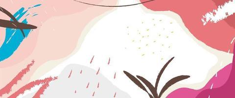 colorato astratto doodle memphis design in stile