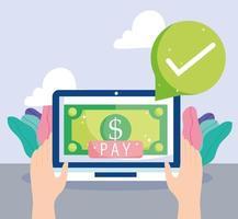 pagamento online e composizione dell'e-commerce