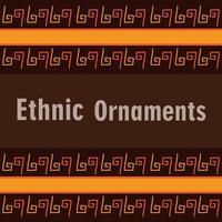banner di piastrelle sfondo ornamento etnico vettore