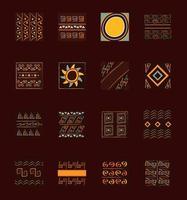 set di piastrelle ornamento etnico