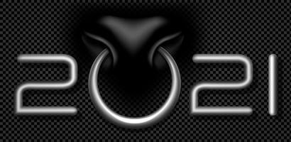 bull ring 2021 design tipografico in argento vettore