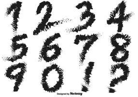 Vettori di numeri scritti a mano grungy