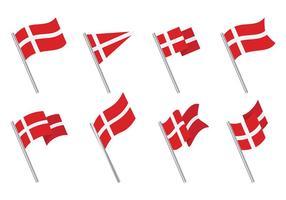 Vettore libero delle icone della bandiera danese