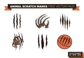 Pacchetto gratuito di vettore di segni di graffi animali