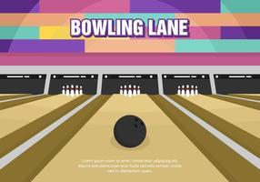 Vettore luminoso del vicolo di bowling di divertimento