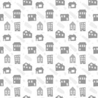 modello senza cuciture scandinavo con case disegnate a mano