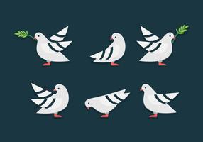 Simbolo dell'uccello di carità vettore
