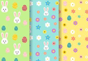 Bunny Easter Pattern gratuito vettore
