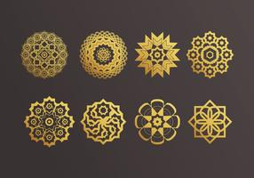 Vettore di ornamenti islamici