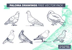 paloma disegni vettoriali gratis pack