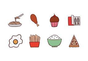 Pacchetto di icone cibo gratis vettore