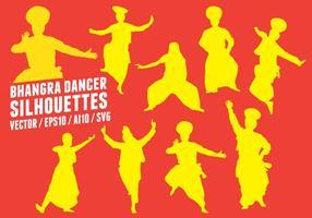 Sagome di ballerini di Bhangra
