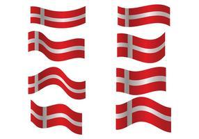 Vettore di bandiera danese