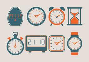 Collezione di icone vettoriali timer