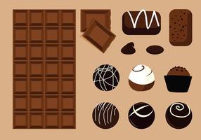 Vettore del prodotto al cioccolato