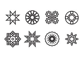 vettore di ornamenti islamici geometrici
