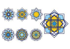 Insieme di vettore di ornamenti islamici