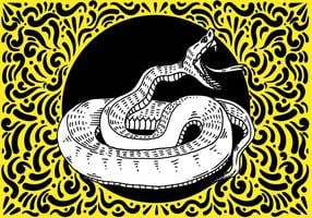 Design ornato serpente vettore