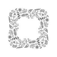 corona quadrata monoline di natale