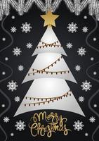 biglietto di auguri di Natale deluxe vettore