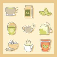 set di diversi tipi di tè